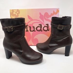 Mudd Westlake Dark Brown Boots Booties Sz 7.5